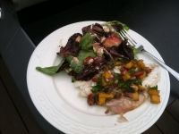 Grilled Red Snapper with Mango Salsa