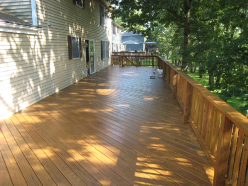 Fred's pine deck