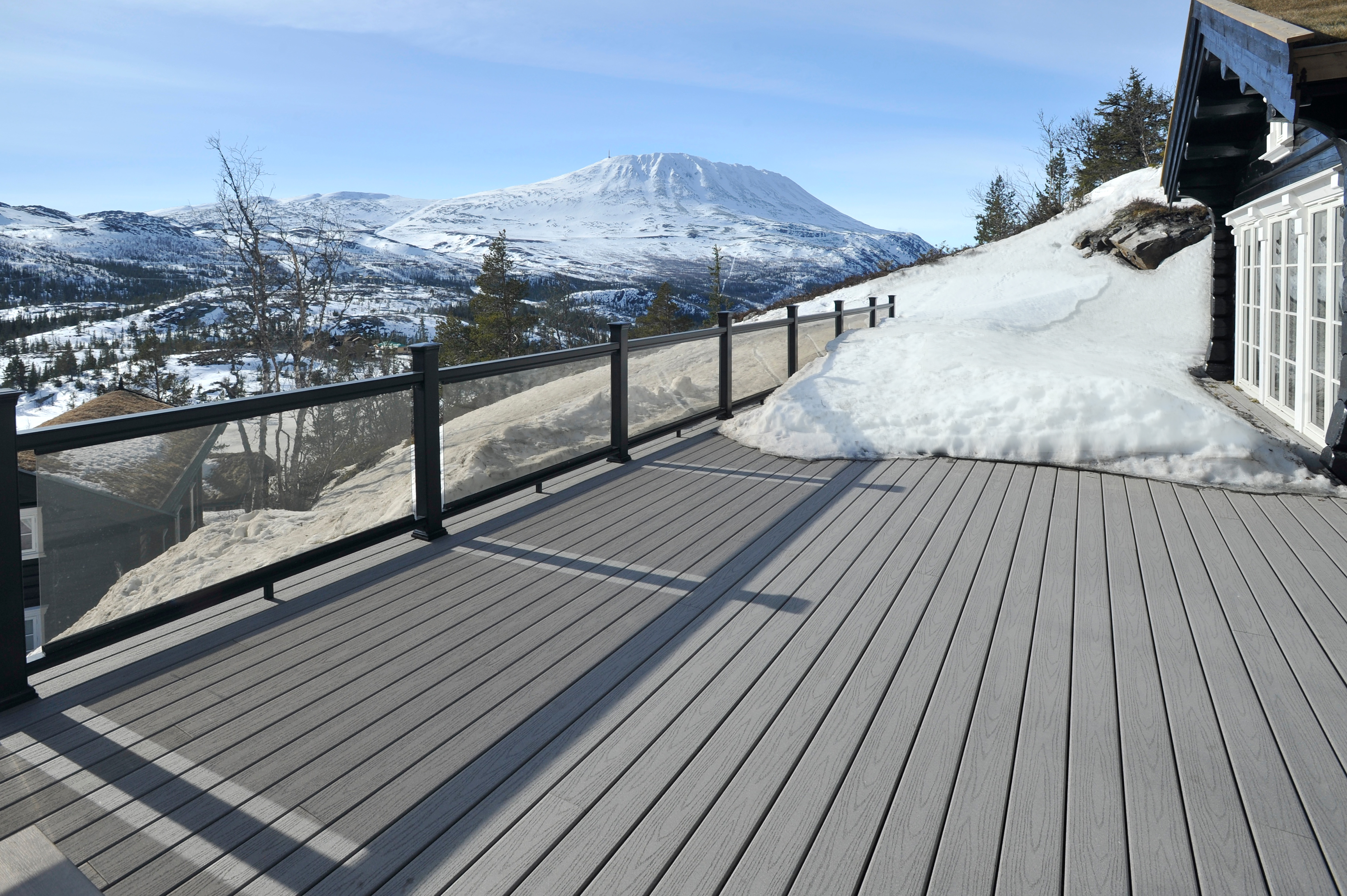 Safely Remove Ice and Snow from a posite or PVC Deck