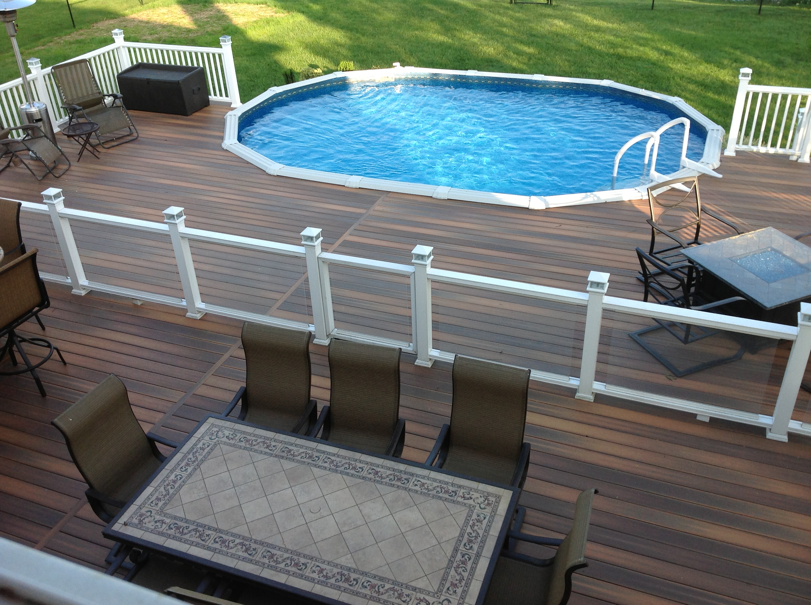 Fiberpro focus just decks roxbury new jersey deck talk for Above ground pool decks nj
