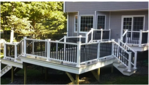 Beautiful Fiberon Deck with White Railing