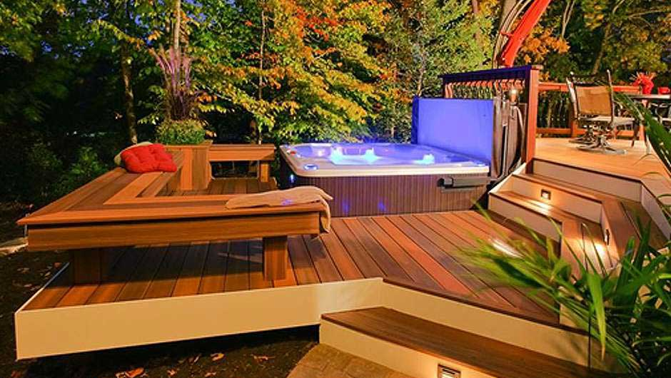 fiberon horizon ipe hottub blog - Hot Tub Design Ideas
