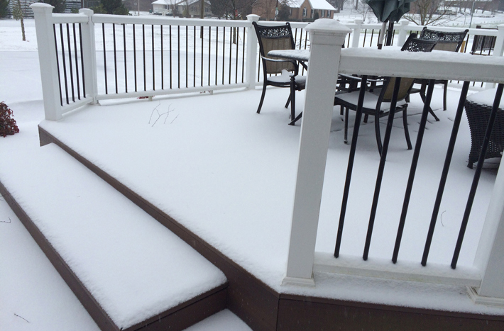 Snow and Ice Removal on Composite Decks | Deck Talk