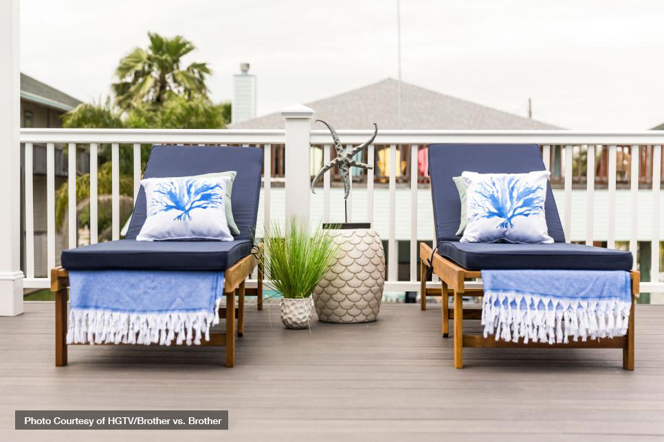 Select the right color composite deck boards using these